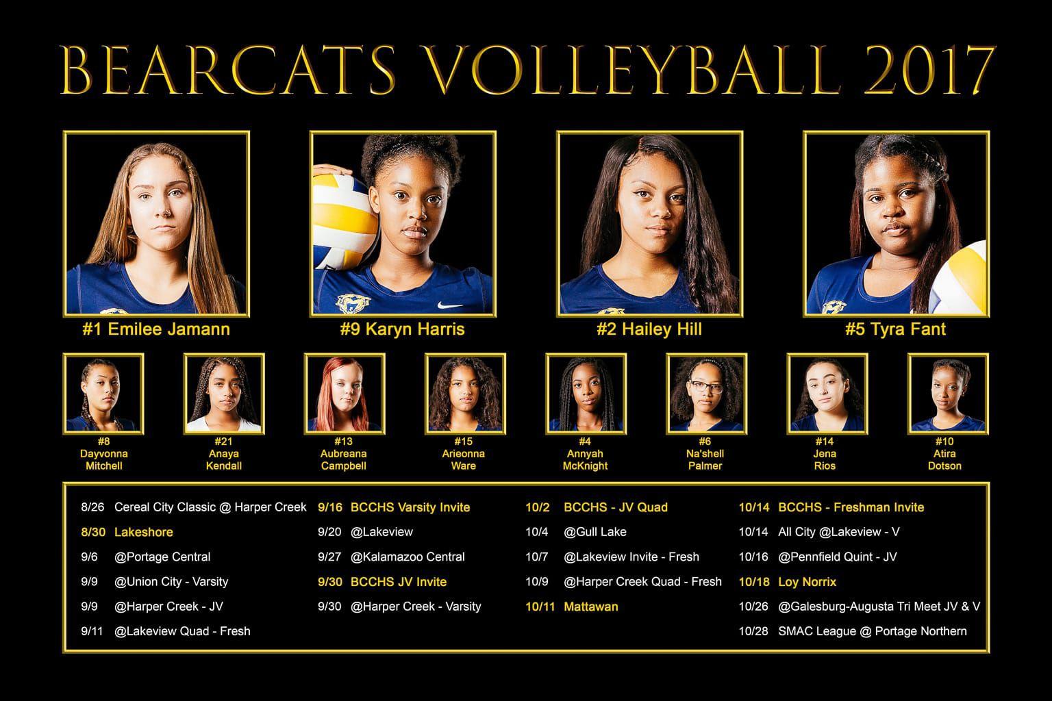 Bearcats Volleyball 2017