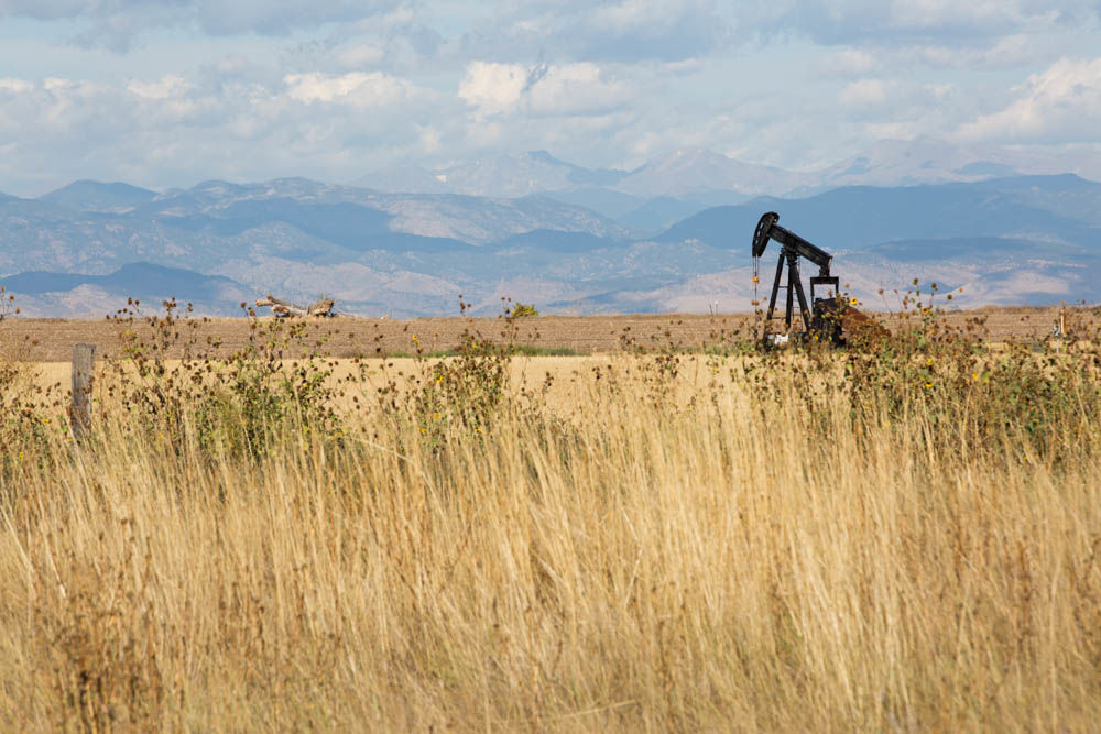 commercial photographer, greeley, colorado, commercial photography, oil, mountains, pump jack