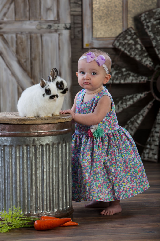 Easter Portraits With Real Bunnies