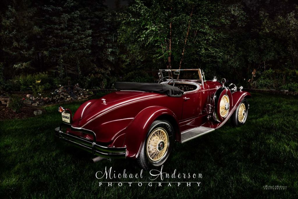 Light Painting a 1930 Packard Boattail Speedster