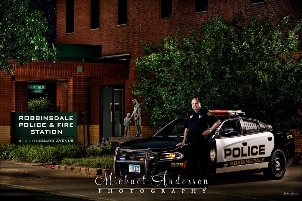 Light Painting  a Dodge Charger Police Interceptor