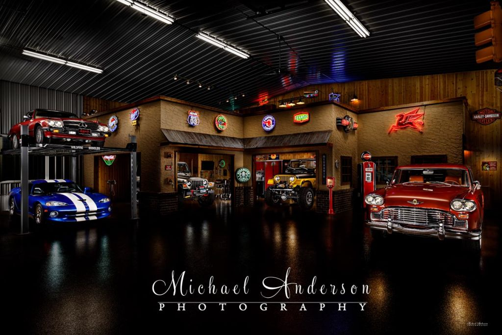 A Cool Five-Car Light Painting in a Garage Condo