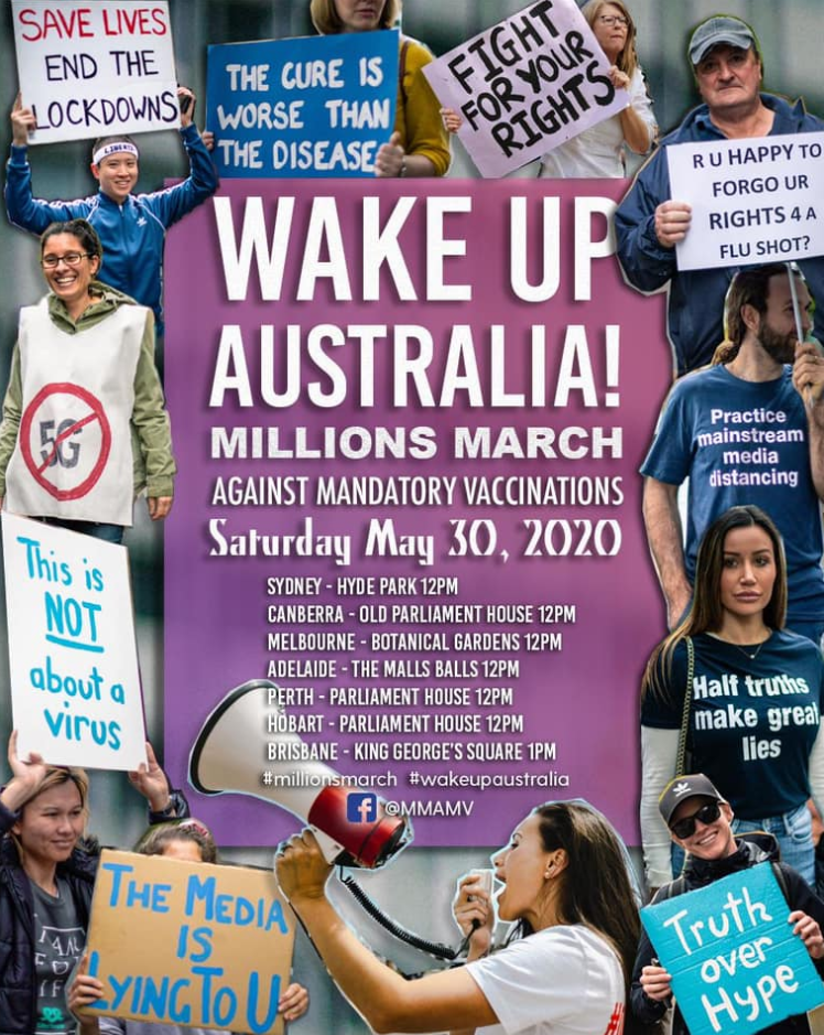 WAKE UP AUSTRALIA MARCH AGAINST MANDATORY VACCINATIONS